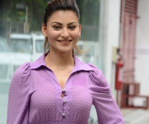 Urvashi Rautela Spotted At Tseries Office In Andheri