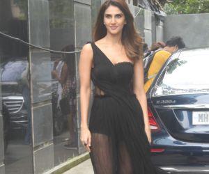 Vaani Kapoor spotted outside Pooja Entertainment office at Juhu