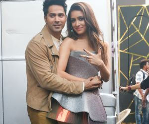 Actors Varun Dhawan and Shraddha Kapoor promotion of  their film Street Dancer.