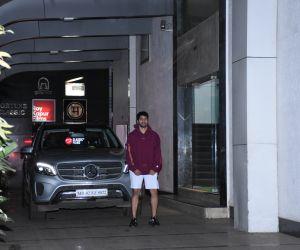 Varun Dhawan spotted at gym in Khar