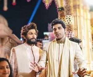 Alllu Arjun and Sirish Vibrant looks at Nischay Wedding