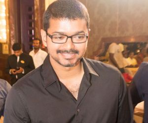 Vijay Attends Jothiram Pavithra Engagement Images..