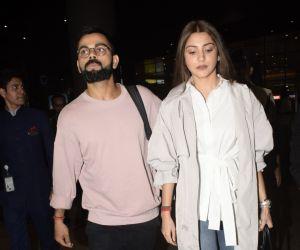 Virat Kohli and Anushka Sharma spotted at airport