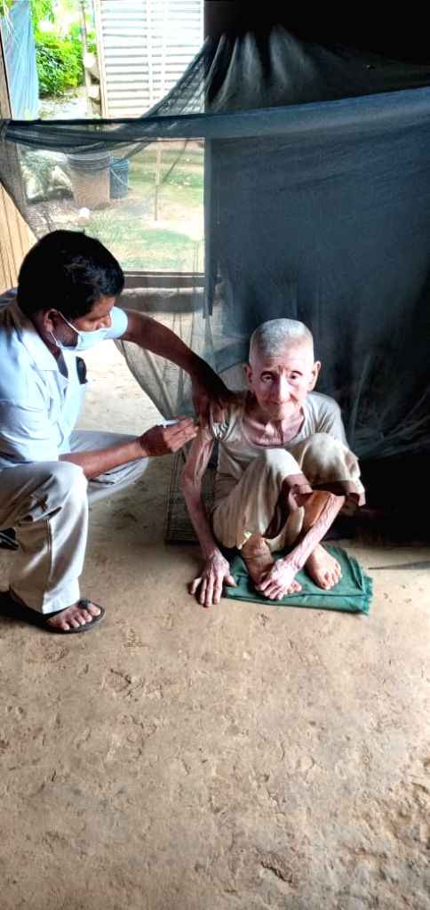 105-years old Tripura woman vaccinated, CM greets