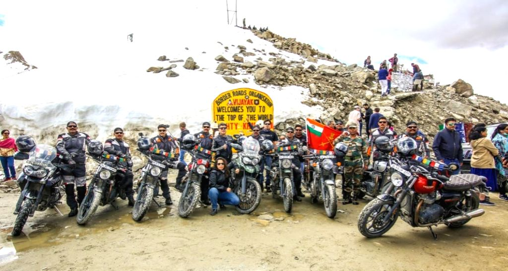 14 members of 13 JAK- RIF successfully completed an 1850 km long motorcycle expedition from Mana village in Uttarakhand till Drass war memorial in Jammu and Kashmir to commemorate the 20th ...