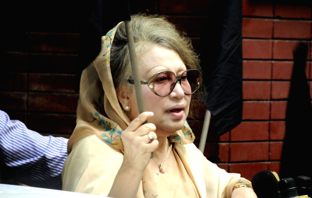 """Bangladeshi ex-Prime Minister and chairperson of Bangladesh Nationalist Party (BNP) Khaleda Zia talks to media about """"Democracy Killing Day"""" in ... - Khaleda Zia"""
