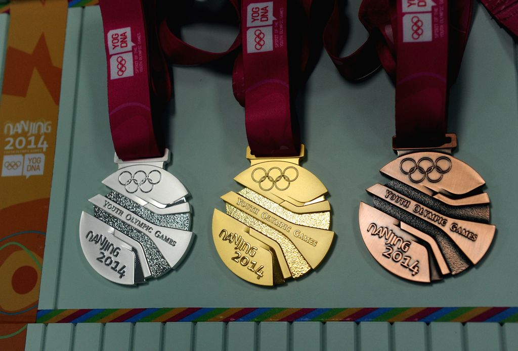 The Nanjing Youth Olympic Games medals unveil in Nanjing, east China's Jiangsu Province, August 13, 2014.