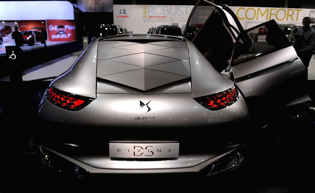 A Citroen DS Divine concept car is displayed on the press day at the Brussels Motor Show in Brussels, Belgium, Jan. 15, 2015. The Motor show will run ..