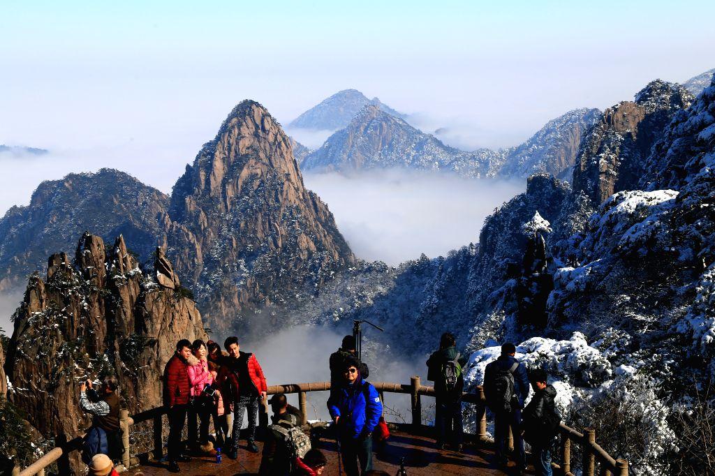 Photo taken on Jan. 15, 2015 shows the snow scenery of Huangshan Mountain in Huangshan City, east China's Anhui Province. (Xinhua/Shui ...