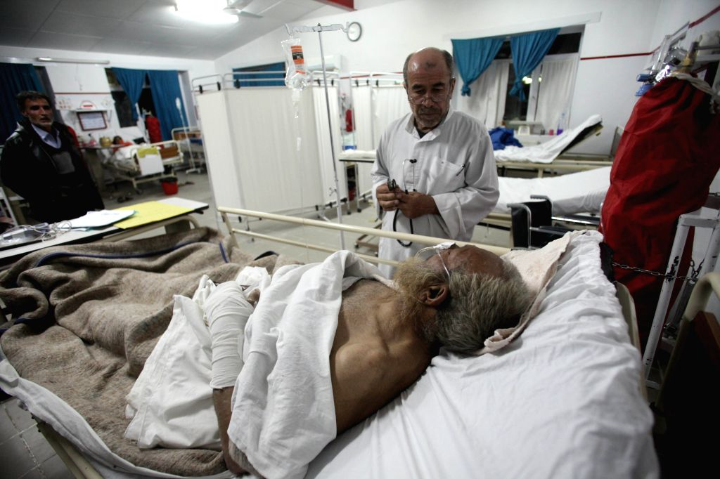 A victim of the avalanche receives treatment at a hospital in Panjshir province, east Afghanistan, on Feb. 25, 2015. The death toll has risen to more ...