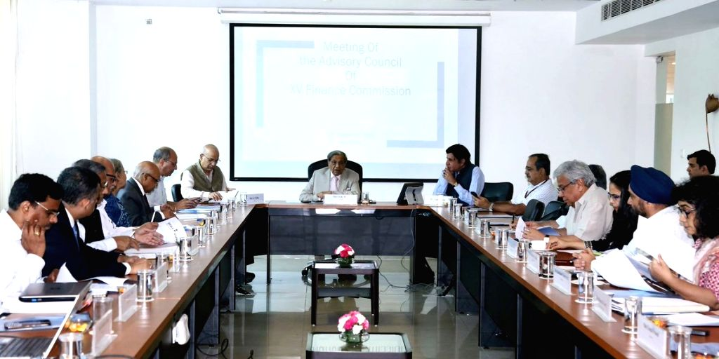 15th Finance Commission Chairman N. K. Singh chairs a meeting of the Advisory Council of the 15th Finance Commission, in New Delhi on Sep 13, 2019. - N. K. Singh