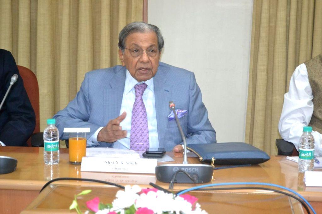 15th Finance Commission Chairman N.K. Singh. (Photo: IANS/PIB) - K. Singh