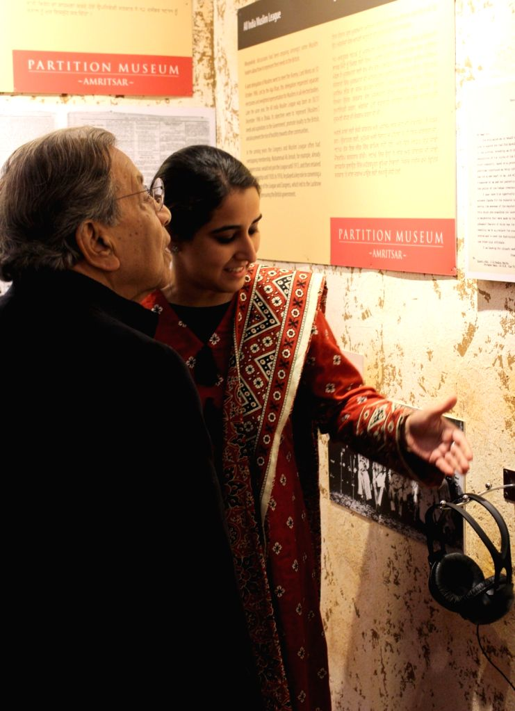 15th Finance Commission chairman NK Singh visits the Partition Museum at Town Hall in Amritsar, on Jan 31, 2019.