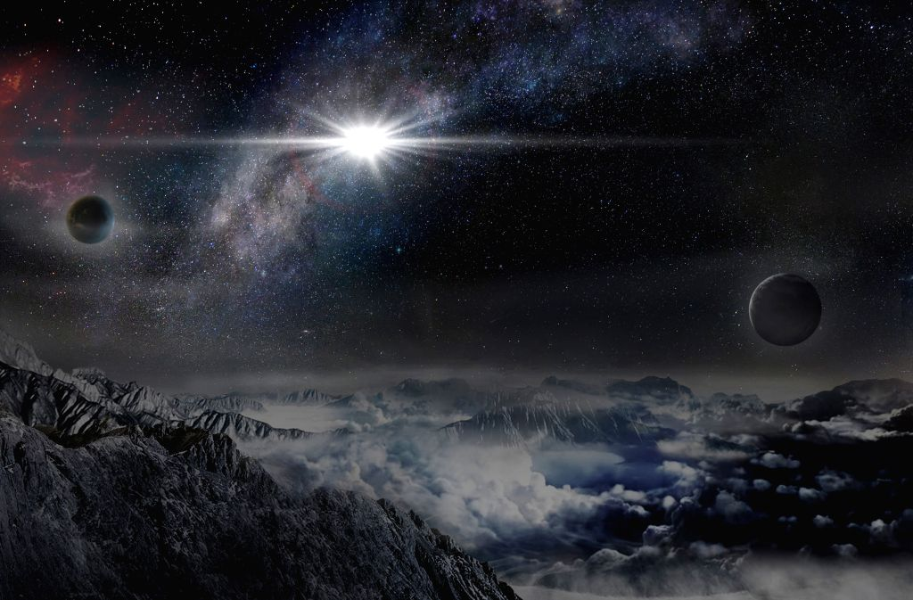 This picture made by Ma Jin from Beijing Planetarium shows an artist's impression of the record-breakingly powerful, super luminous supernova ...