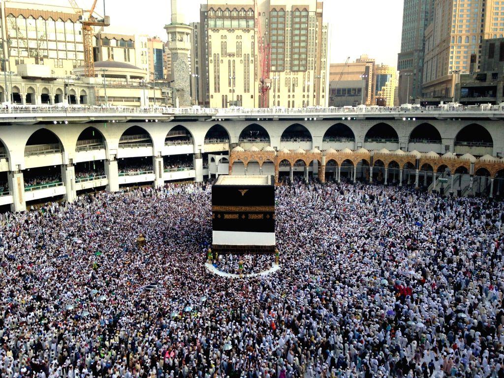 1st group of Indian Haj pilgrims arrive in Medina. (Xinhua/Wang BoI/IANS)