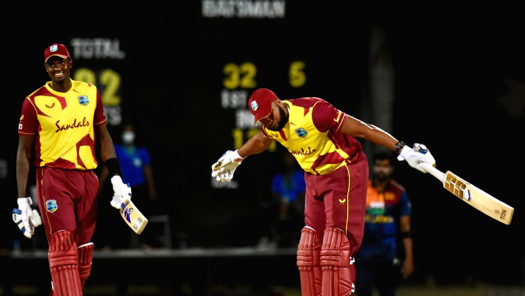 1st T20I: Pollard's six sixes in an over takes Windies to win (Credit: West Indies Cricket twitter)