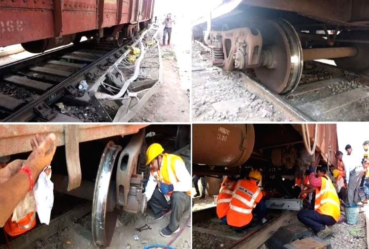 2 coaches of goods train derailed.