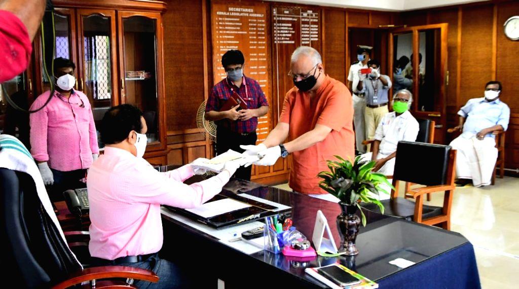 2 file nomination for Rajya Sabha bypoll from Kerala.