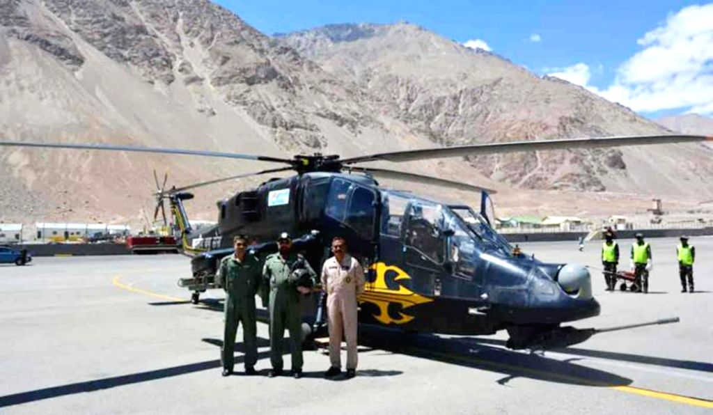 2 light combat choppers made by HAL deployed in Ladakh