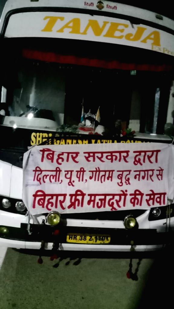 2 people arrested in fake labour bus racket busted in Noida.