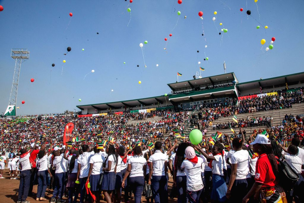 People attend the celebration for the 40th anniversary of the country's independence in the capital Maputo June 25, 2015. Mozambique achieved ...