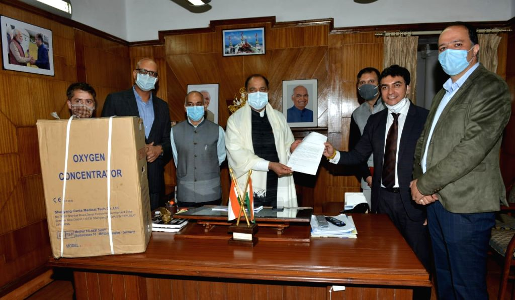 25 medical grade oxygen concentrators presented to Chief Minister in Shimla On Wednesday 16 June, 2021.