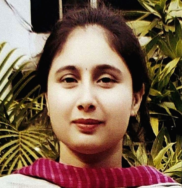 26-year-old Shivjeet Bharti, daughter of a newspaper vendor and one of the 48 students who cleared the Haryana Civil Services (Executive) examination.