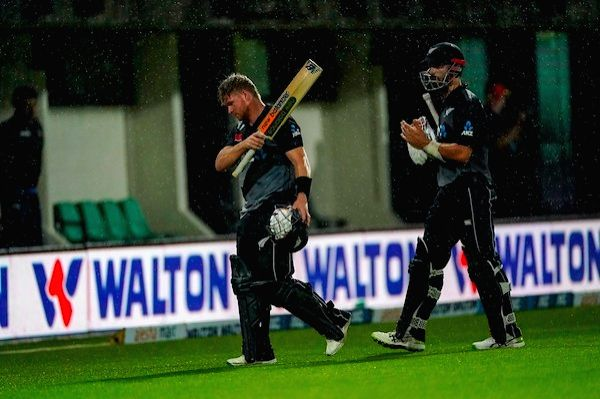 2nd T20I: NZ beat B'desh amid DLS confusion.  Credit: New Zealand Cricket Twitter