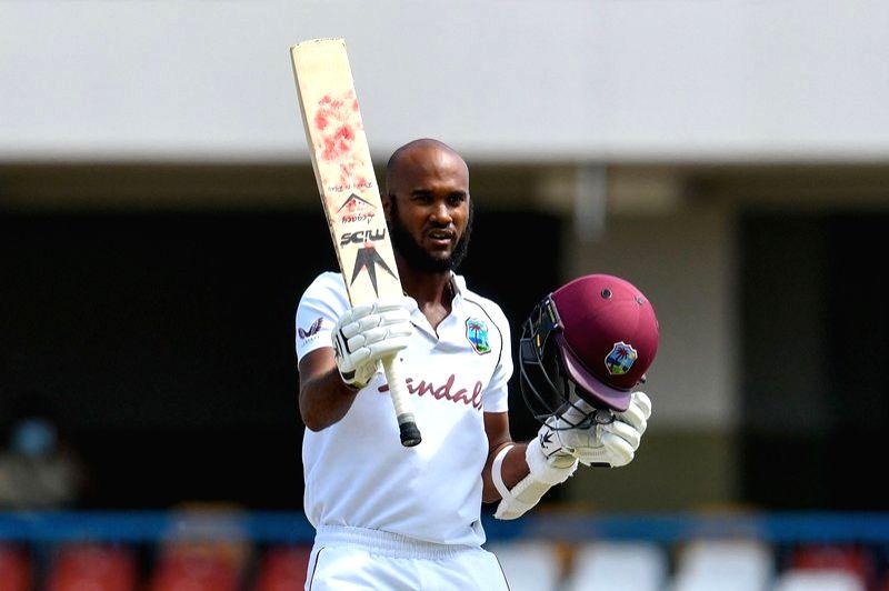 2nd Test: Brathwaite scores ton as Windies stay ahead.(Credit: Cricket West Indies)
