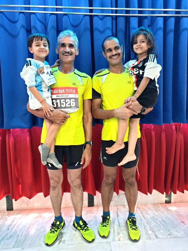 3 Generation in Airtel Half Marathon in New Delhi.