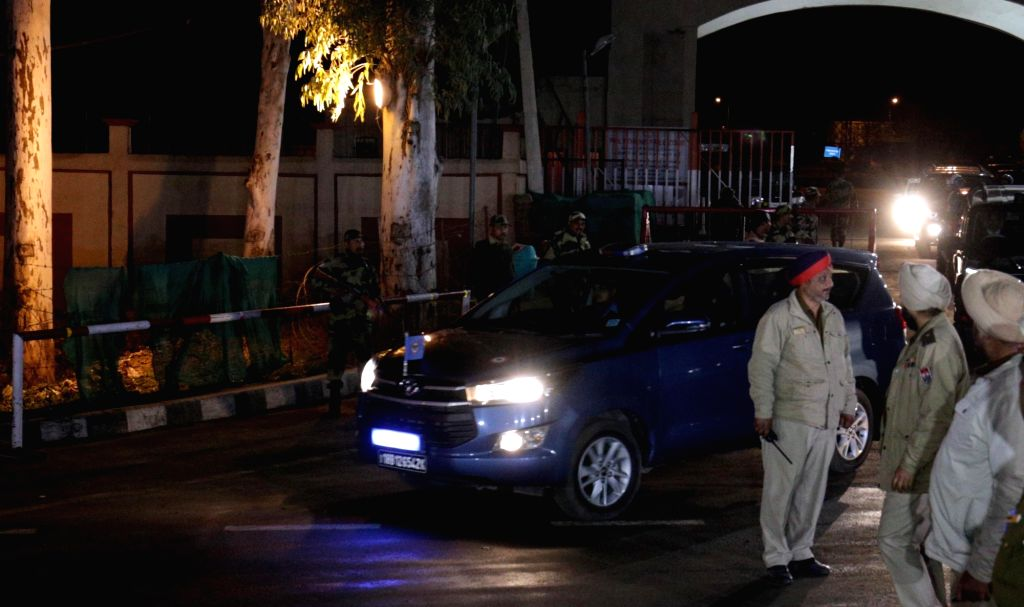 35-year-old IAF Wing Commander Abhinandan Varthaman, who was handed over to Indian High Commission officials at Pakistan's Wagah border, being taken away in Attari, Punjab on March 1, 2019.