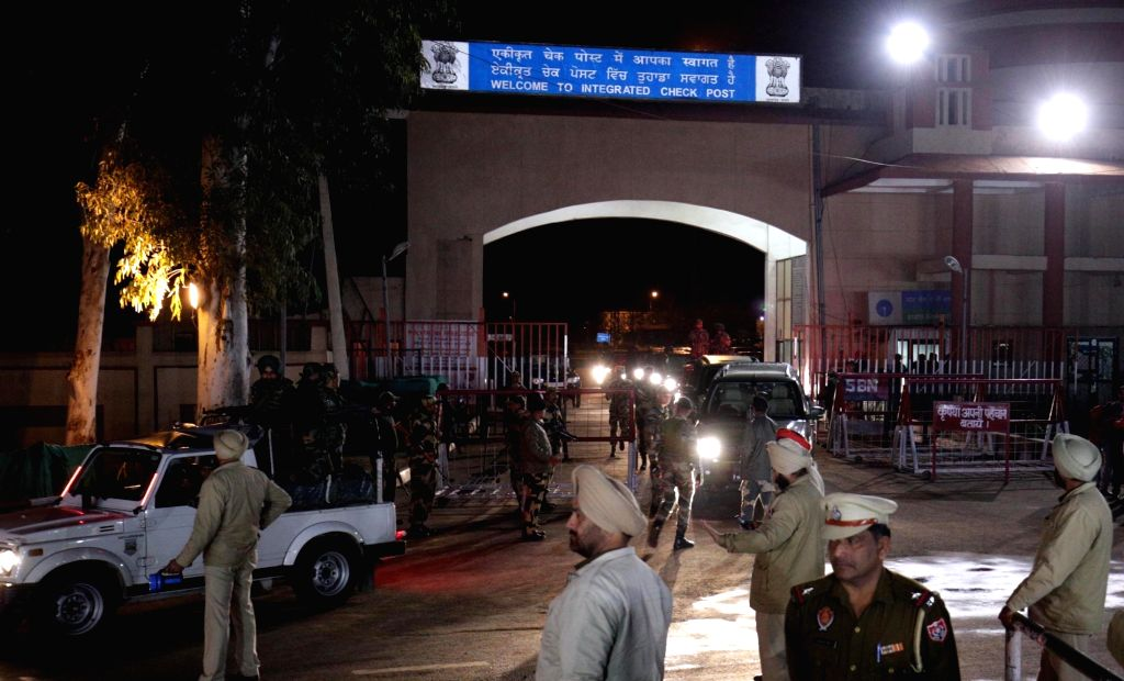 35-year-old IAF Wing Commander Abhinandan Varthaman, who was handed over to Indian High Commission officials at Pakistan's Wagah border, being taken away in a convoy in Attari, Punjab on ...