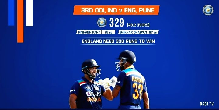 3rd ODI: India bowled out for 329 in series decider
