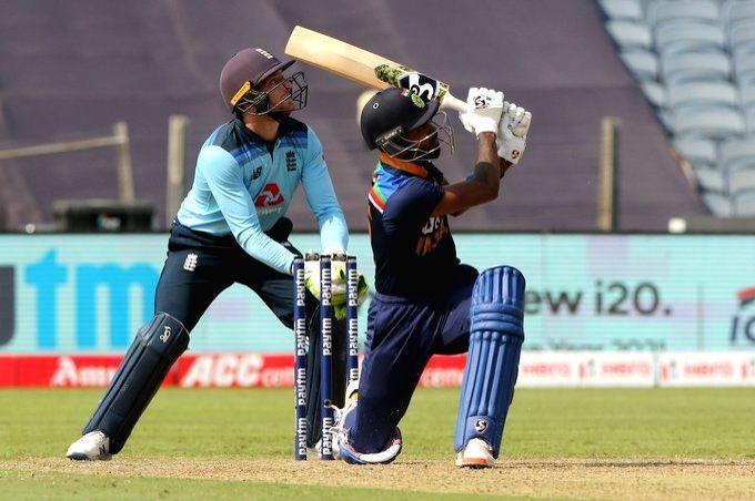 3rd ODI: Pant, Hardik power India to 329 (ld). (Credit: BCCi Twitter)