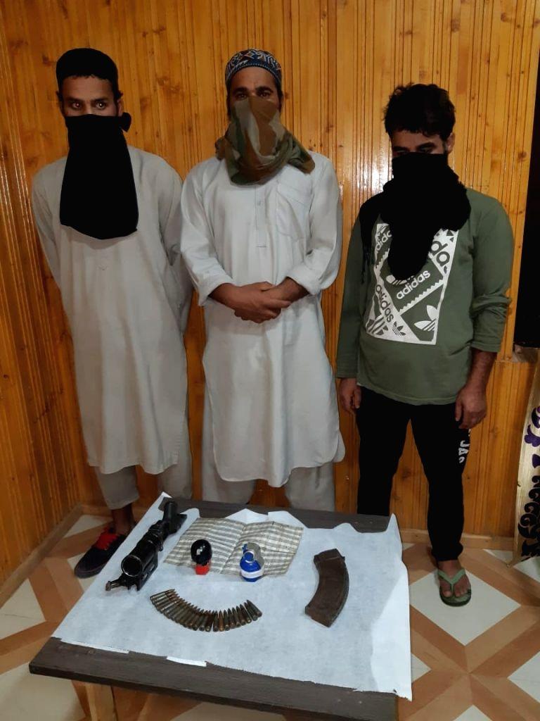 4 terrorist associates arrested in J&K .