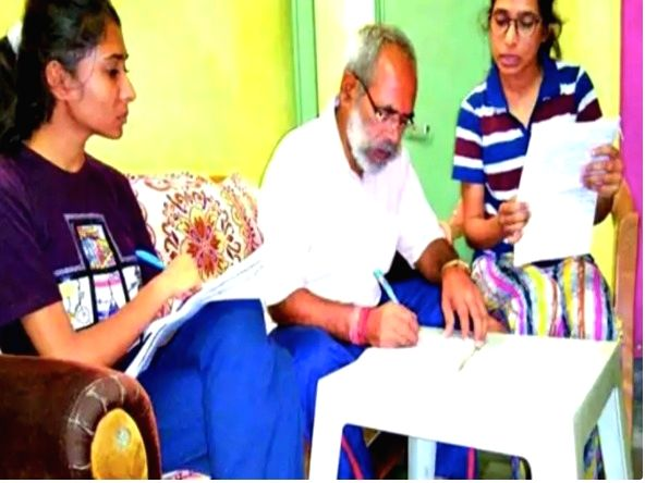 62-year-old BJP MLA appears for BA exam to pursue his aim of becoming BA Pass MLA.