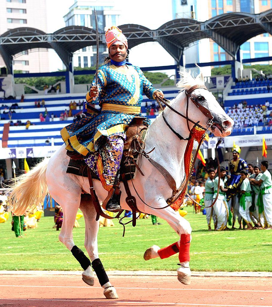 63rd Kannada Rajyotsava Day (Karnataka State Formation day) function underway at Kanteerava Stadium, in Bengaluru on Nov. 1, 2018.