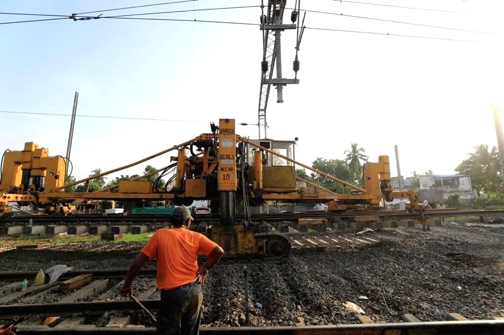 69 km rail line doubling completed in AP's central-coastal belt.