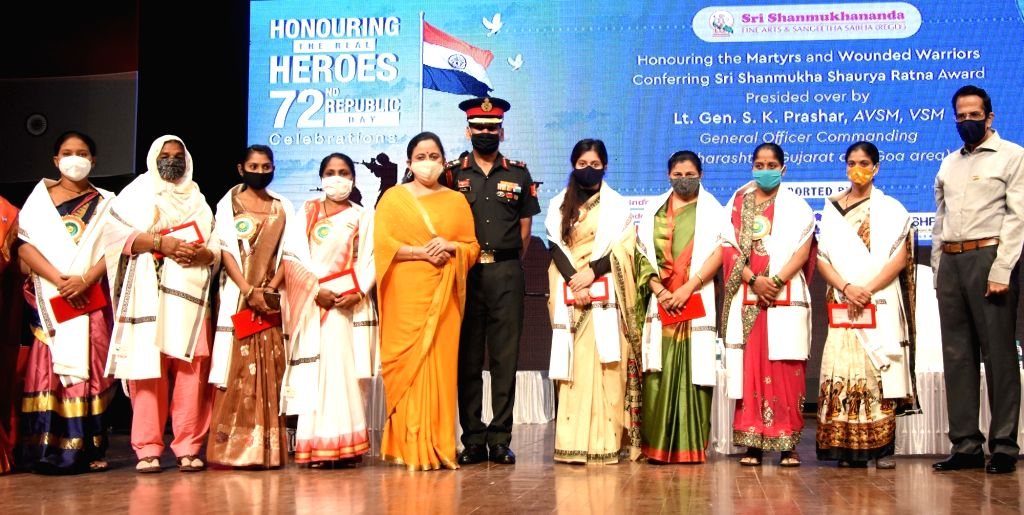 72nd Republic Day celebrations at Shanmukhananda Auditorium, King Circle, Mumbai on Tuesday, January 26, 2021.
