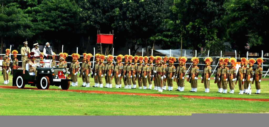 74th Independence Day parade underway at Gandhi Maidan in Patna on Aug 15, 2020.