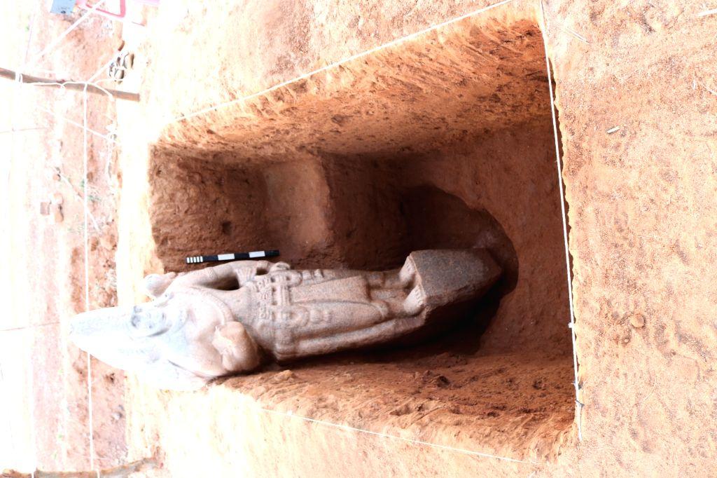 8. Exposed Stone Vishnu Idol.