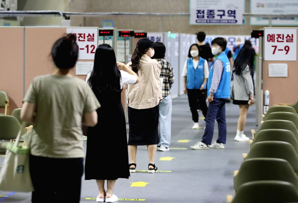 9 out of 10 S. Korean adults received at least one vaccine shot (YONHAP/IANS)