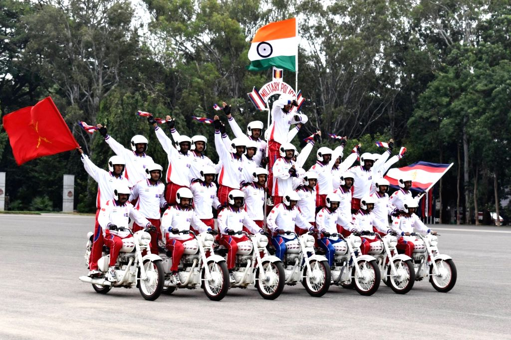 94 Recruit trainees display their skills during their Passing Out Parade at Corps of Military Police at the CMP Centre and School, in Bengaluru on Dec 7, 2019.