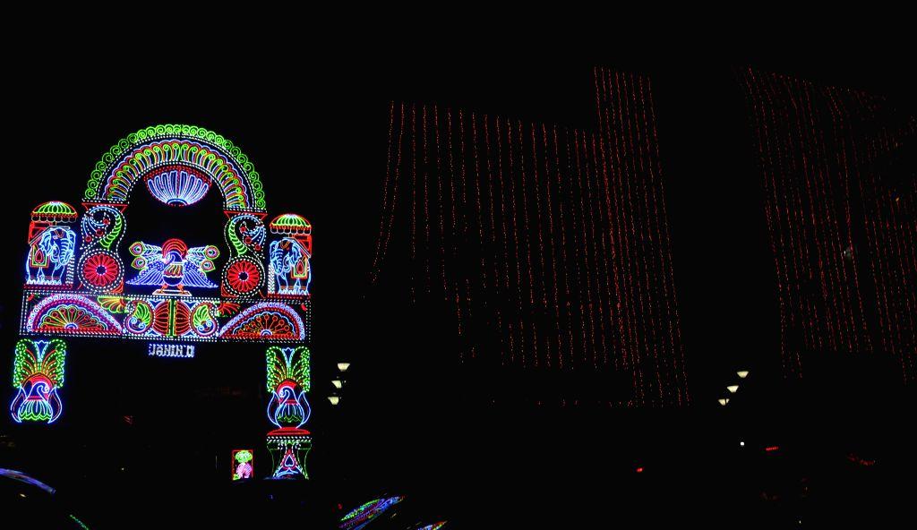 95 pally Durga Puja pandal in Kolkata, on Oct 19, 2015.