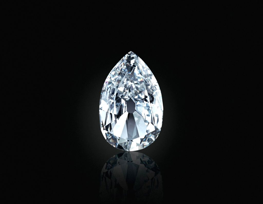 A 17.21 carat 'Arcot II,' once owned by Queen Charlotte, consort of George III, King of Great Britain and later passed down to George IV, King of Great Britain, realized USD 3,375,000 at auction. (Source: Christie's/Twitter)