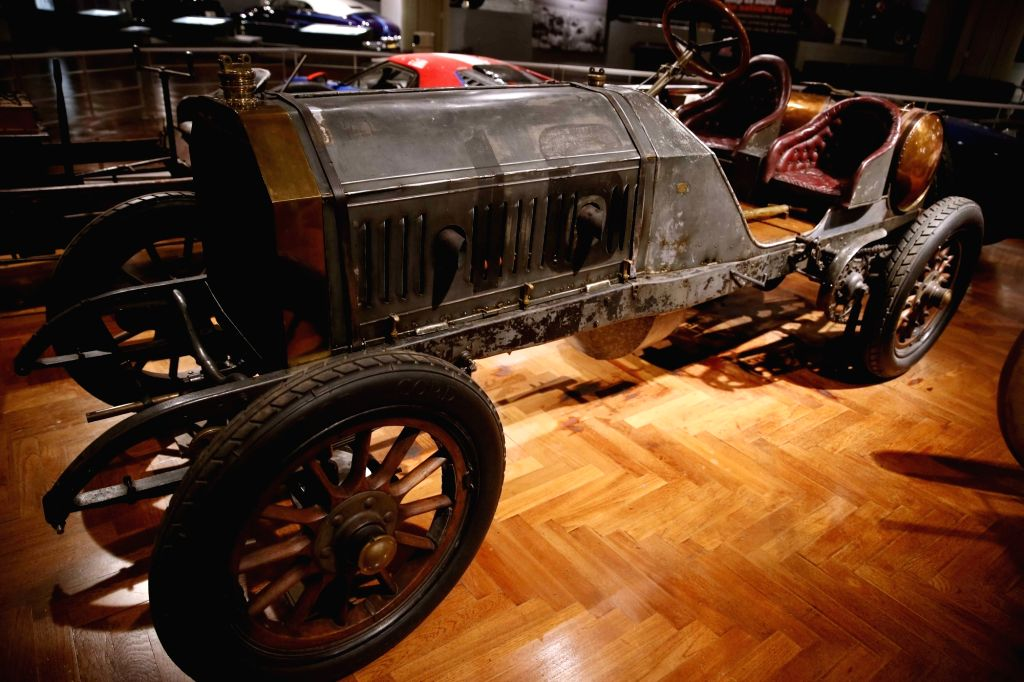 """A """"1909 Ford Model T"""" touring car at the Henry Ford Museum of American Innovation, in Detroit, the United States. - T"""