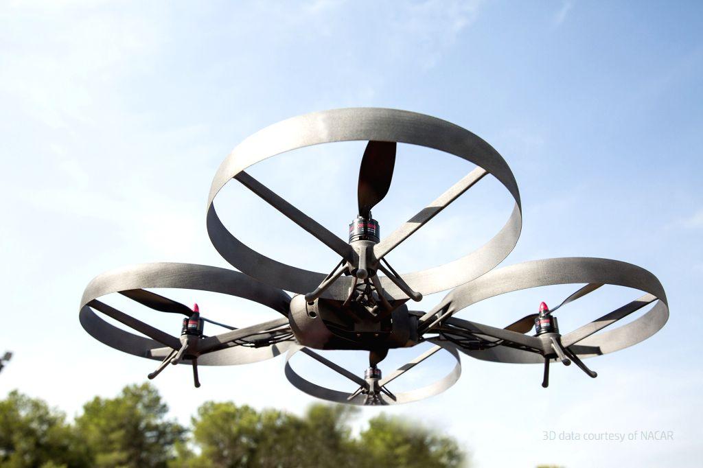 A 3D-printed drone via HP Multi Jet Fusion (MJF) 3D Printer.