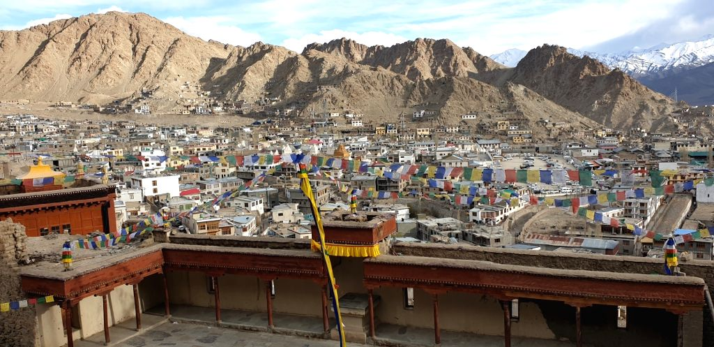 A bird's eye view of Jammu and Kashmir's Leh. A high-desert city in the Himalayas, Leh is the capital of the Leh region in northern India???s Jammu and Kashmir. It is known for its Buddhist ...