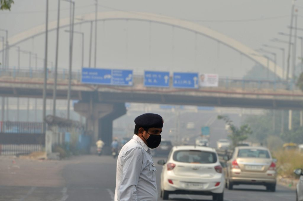 A blanket of smog envelops New Delhi on Oct 28, 2019. The air quality in Delhi became severe on Monday for the first time this season after Diwali celebrations.On Monday morning, Delhi's ...