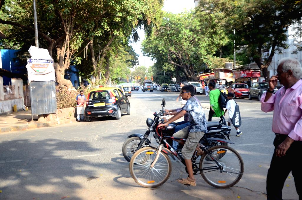 A boy seen riding a bicycle in Mumbai, on June 3, 2019. June 3 was declared as World Bicycle Day by the United Nations General Assembly in April 2018.